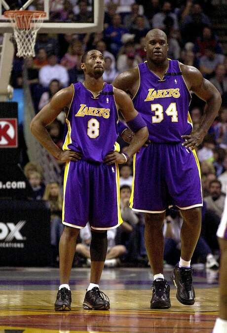 Los Angeles Lakers' Kobe Bryant and Shaquille O'Neal Photo: PAUL CONNORS, AP