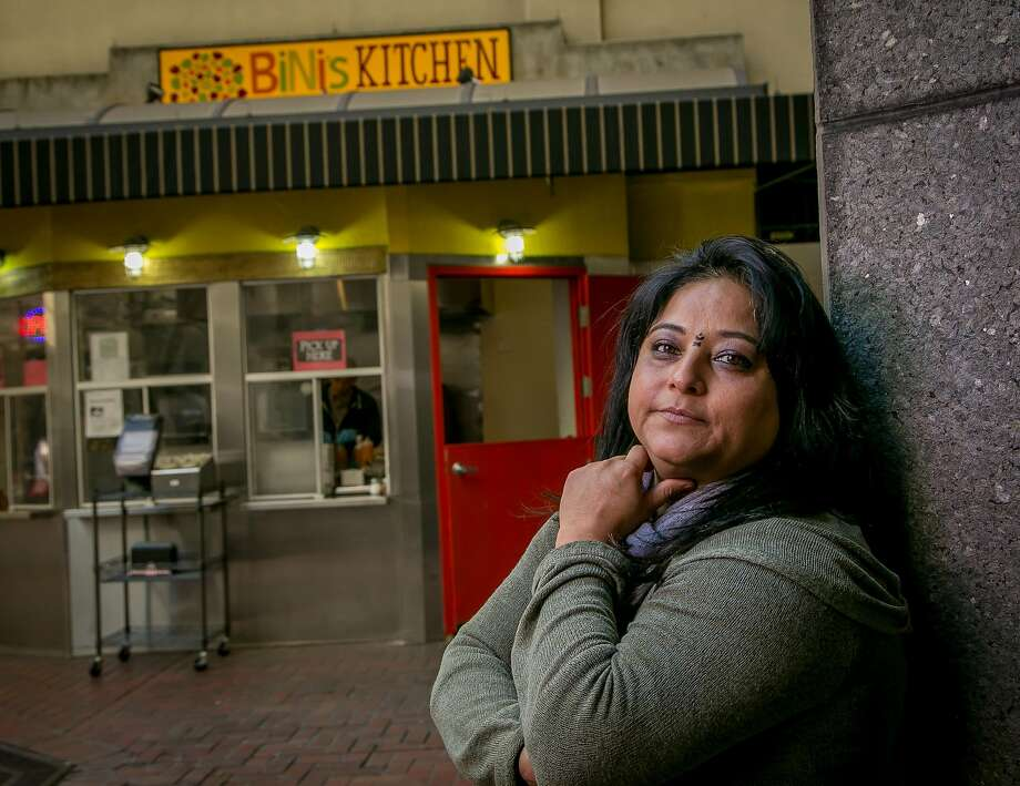 Owner Binita Pradhan of Bini's Kitchen stands in front of her Financial District kiosk. Photo: John Storey, Special To The Chronicle