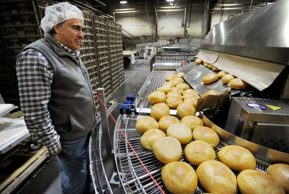 Vice President of Sales and General Manager Vito Catale gives a tour of the automated bread making operation at Chaves Bakery at 1365 State Street in Bridgeport, Conn. on Tuesday, November 14, 2017. Photo: Brian A. Pounds / Hearst Connecticut Media / Connecticut Post