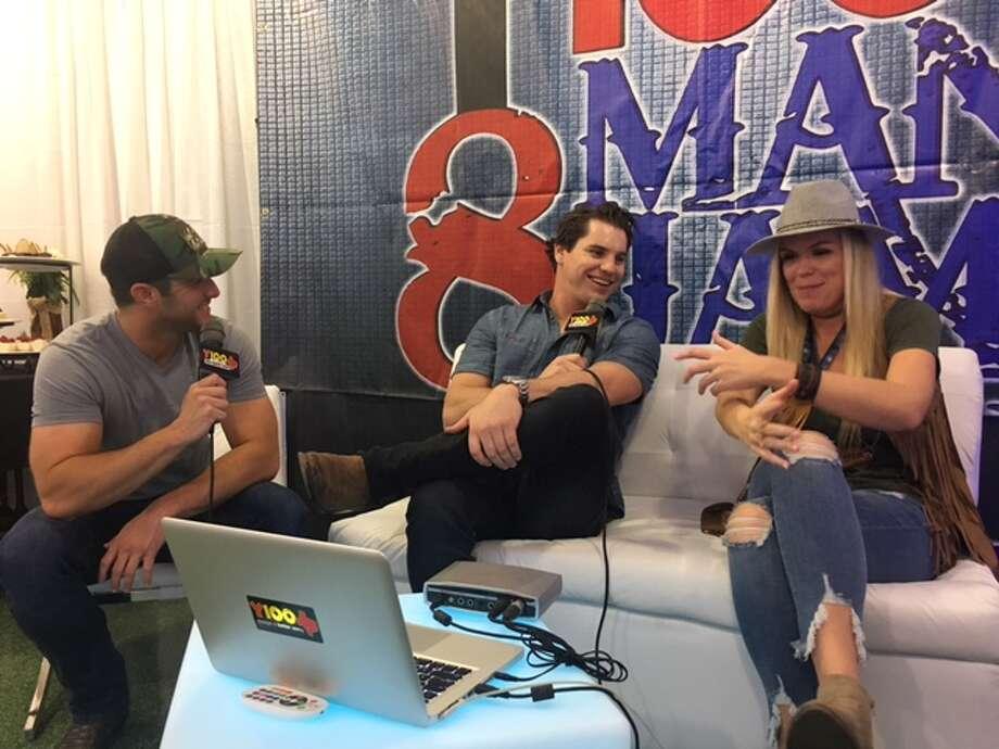 Easton Corbin takes interviews behind the scenes of Y100's annual 8 Man Jam at the Majestic Theatre Nov. 15, 2017. Photo: Madalyn Mendoza
