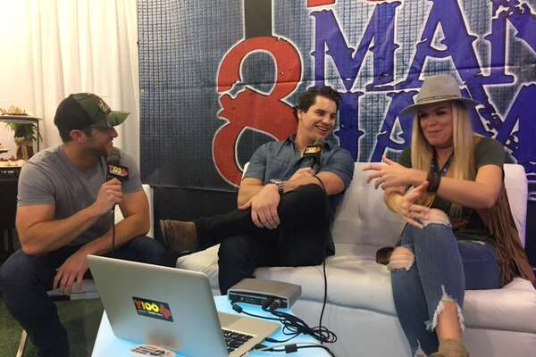 Easton Corbin takes interviews behind the scenes of Y100's annual 8 Man Jam at the Majestic Theatre Nov. 15, 2017.