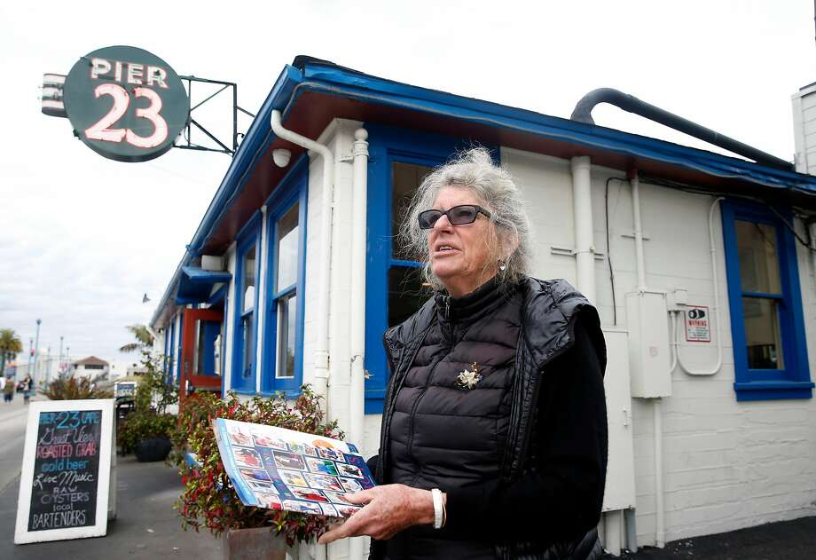 Pier 23 Cafe owner Flicka McGurrin says the pier next door is not the proper spot for a new Navigation Center. Photo: Paul Chinn, The Chronicle