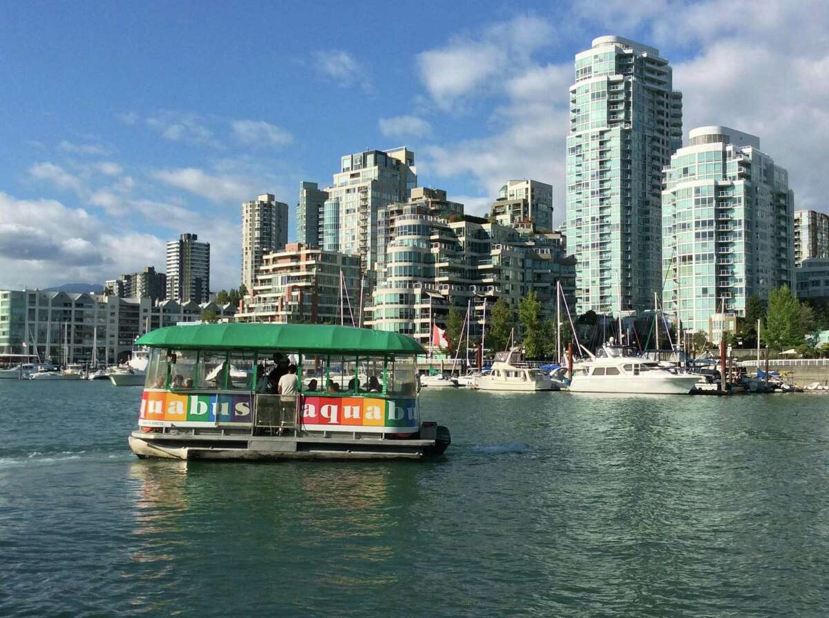 The water taxis are a fun option for getting around Vancouver.