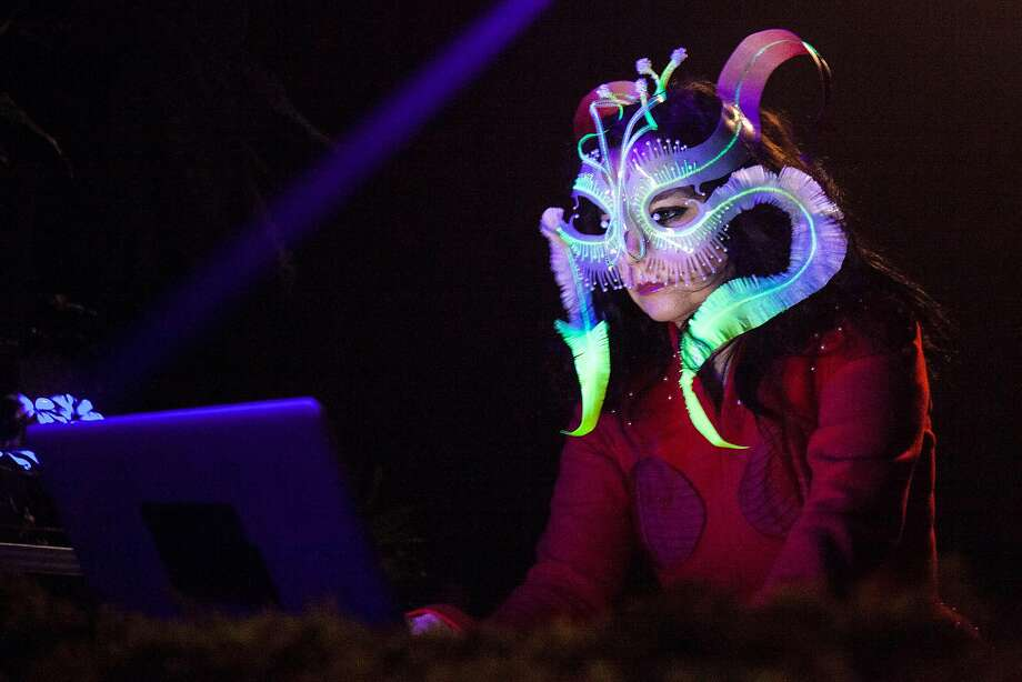 MONTREAL, QC - OCTOBER 26: Bjork performs a DJ set during Bjork Digital Exhibition at Cirque Eloize on October 26, 2016 in Montreal, Canada. (Photo by Santiago Felipe/Getty Images) Photo: Santiago Felipe, Getty Images