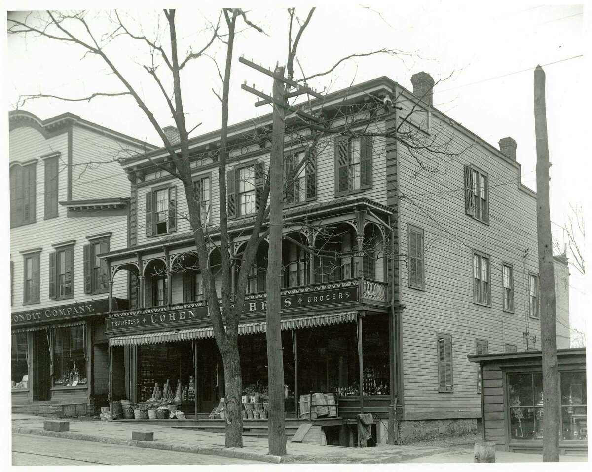The Cohen Brothers Grocery Store, circa 1910. Mayer Cohen opened the store at 67 Greenwich Ave. in 1899. He was the first Jewish merchant to open a store on Greenwich Avenue.