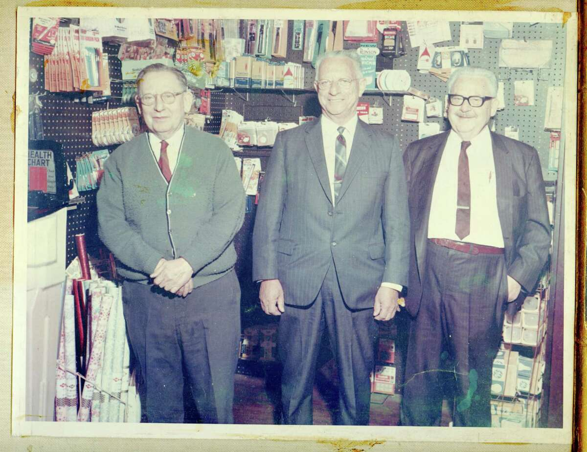 Irv, Samuel and Abraham Marks stand inside Marks Bros. Newspapers at 382 Greenwich Ave., circa 1960-70. The store was opened in 1907 by Philip Marks, a member of one of Greenwich?'s first Jewish families.