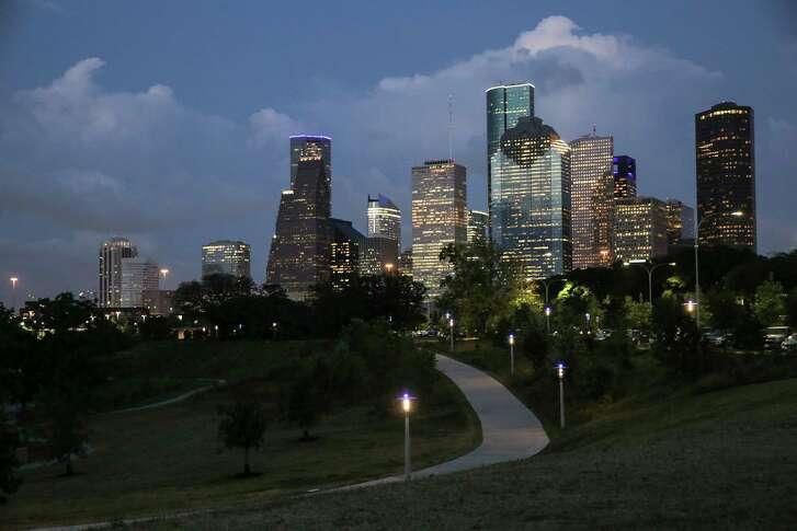 Houston's skyline on May 18, 2017. ( Elizabeth Conley / Houston Chronicle )