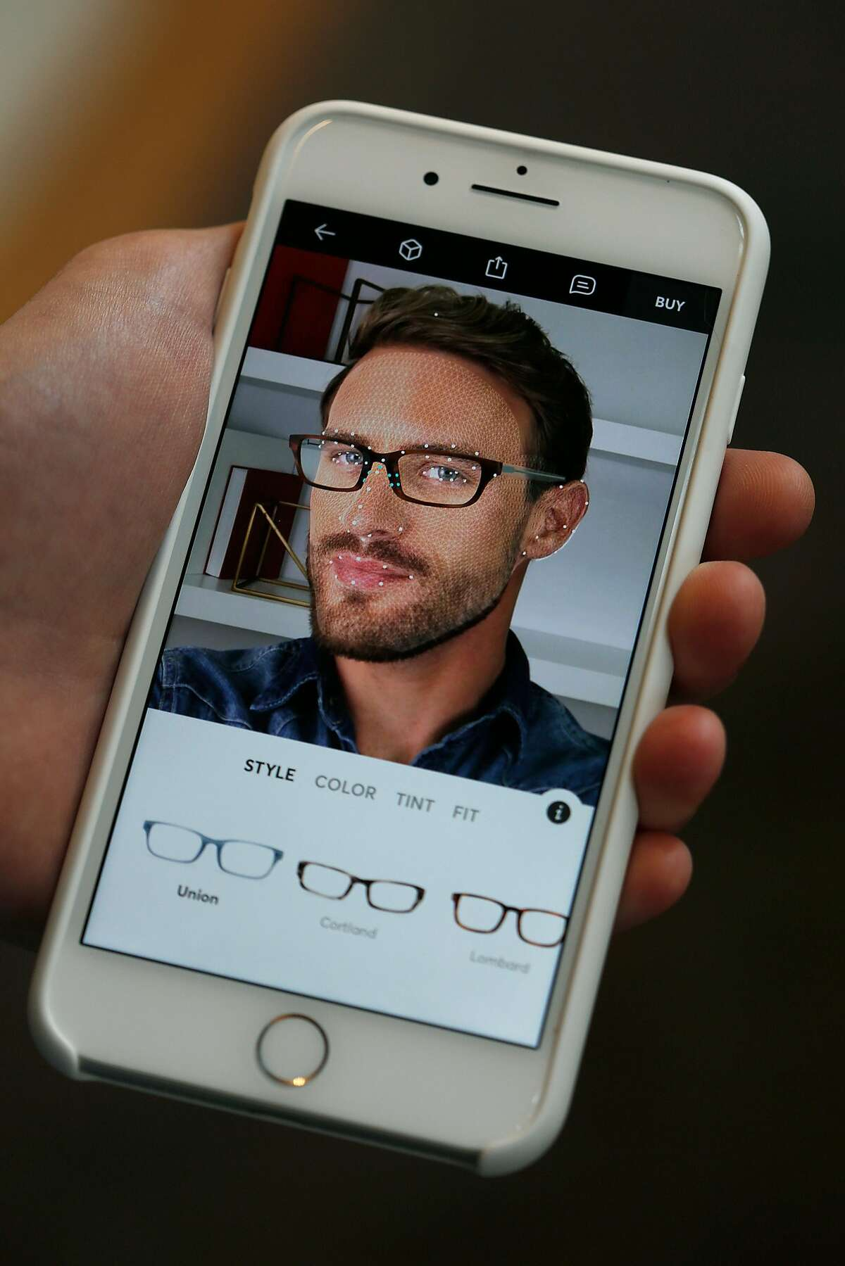 Topology, a new company that has developed a way to make eyewear custom fitted to the individual by using their app on Thursday, September 28, 2017, in San Francisco, Calif.