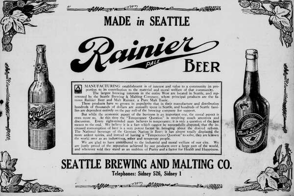 This July 1913 Rainier Beer advertisement appeared in the Seattle Star.
