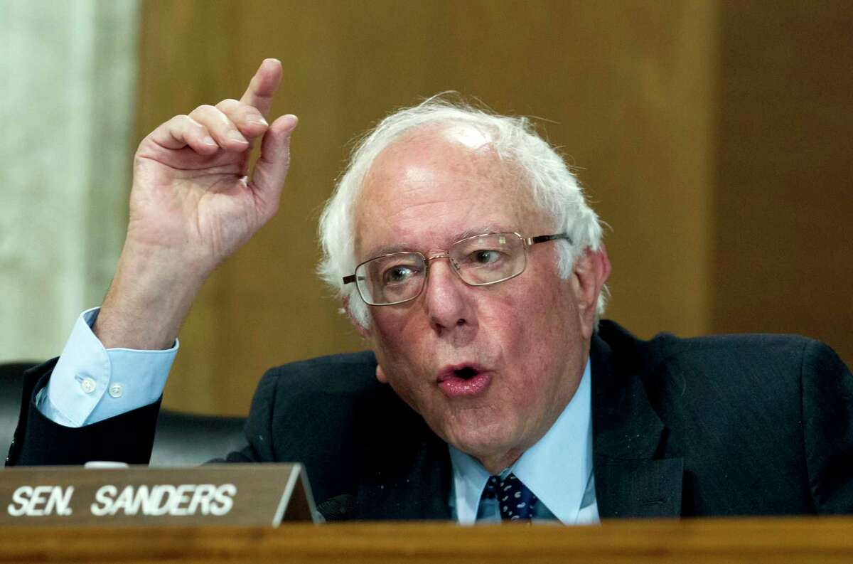 Sen. Bernie Sanders, I-Vt., speaks during the Energy and Natural Resources Committee hearing on Capitol Hill in Washington, Wednesday, Nov. 15, 2017. Oil and gas drilling in Alaska's Arctic National Wildlife Refuge moved closer Wednesday as a key Senate panel approved a bill to open the remote refuge to energy exploration. The Senate Energy and Natural Resources Committee approved the drilling measure, 13-10. ( AP Photo/Jose Luis Magana)