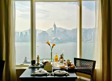 View of Victoria Harbour from my room on the 22nd floor at the Peninsula Hong Kong, a hotel that pushed all my buttons (Photo: Chris McGinnis) Photo: Chris McGinnis