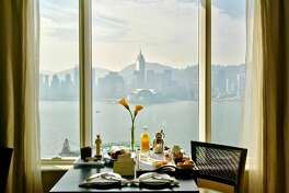 View of Victoria Harbour from my room on the 22nd floor at the Peninsula Hong Kong, a hotel that pushed all my buttons (Photo: Chris McGinnis)
