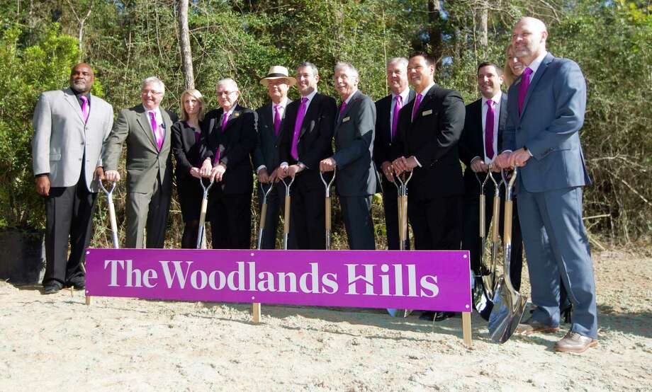 Local political and community leaders are seen during a ground breaking ceremony for The Woodlands Hills master-planned community, Wednesday, Nov. 15, 2017, in North Montgomery County. The new development with include 4,500 homes over 2,000 acres with more than 20 parks and other green spaces. Photo: Jason Fochtman, Staff Photographer / © 2017 Houston Chronicle