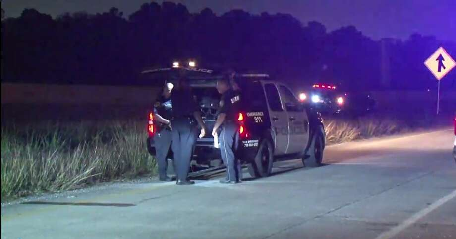Police arrived after a cow was killed on Highway 90 in east Houston.