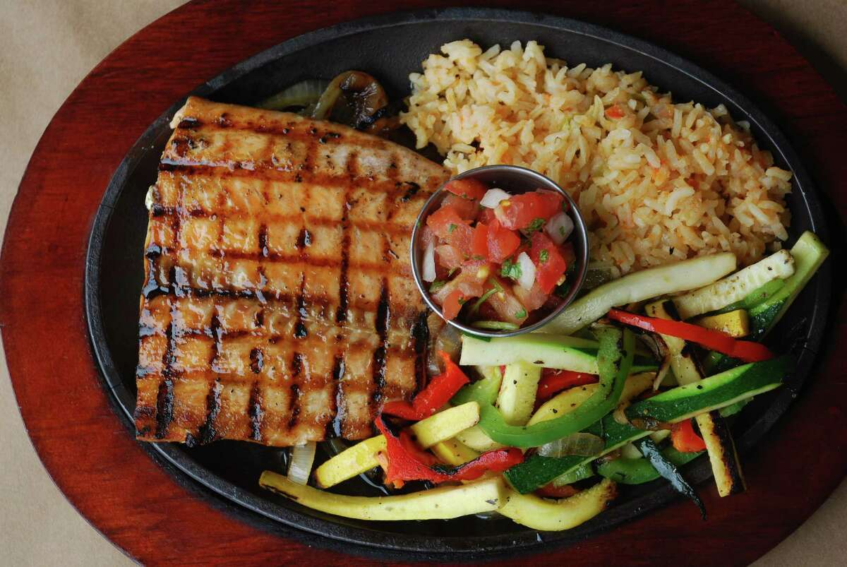 Grilled salmon entree at Skeeter's Mesquite Grill.