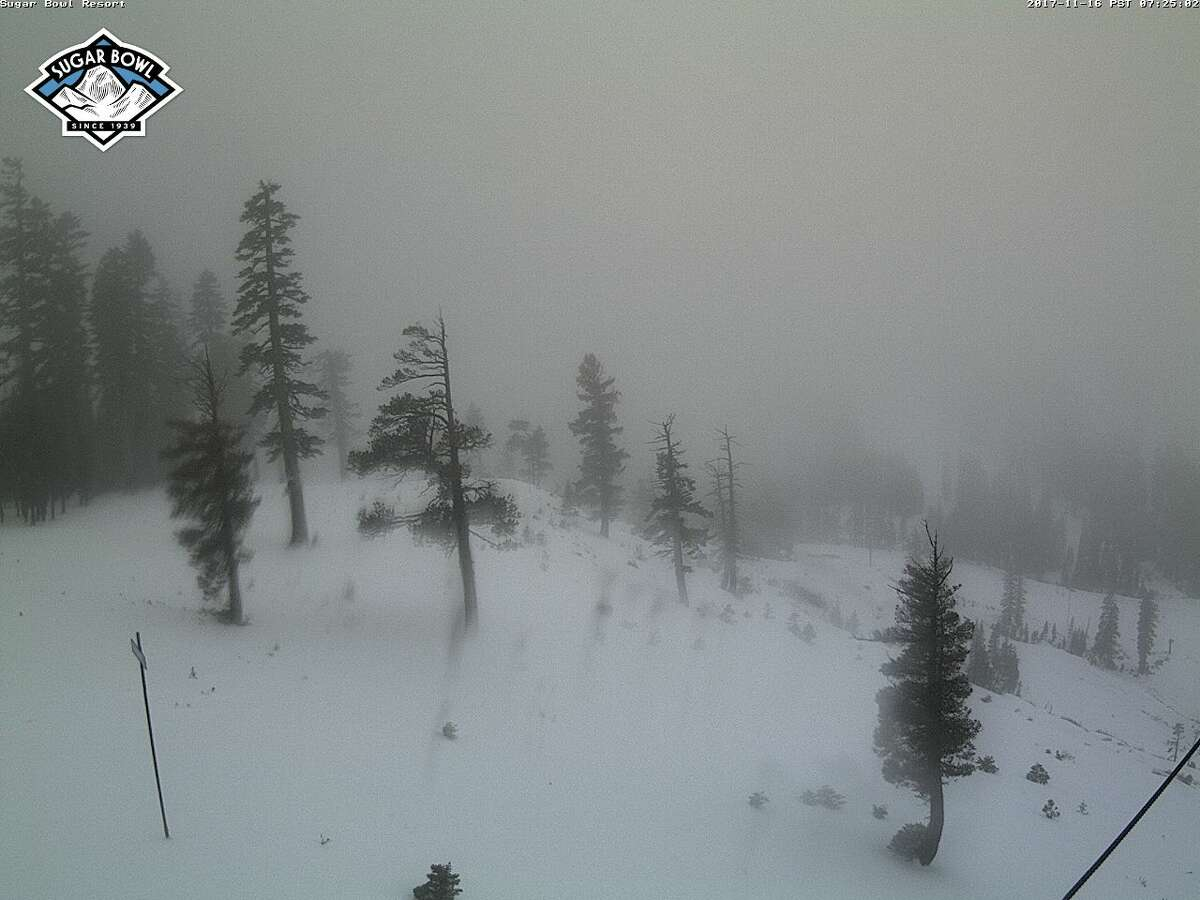 Conditions on Thursday morning at Sugar Bowl's Nob Hill.