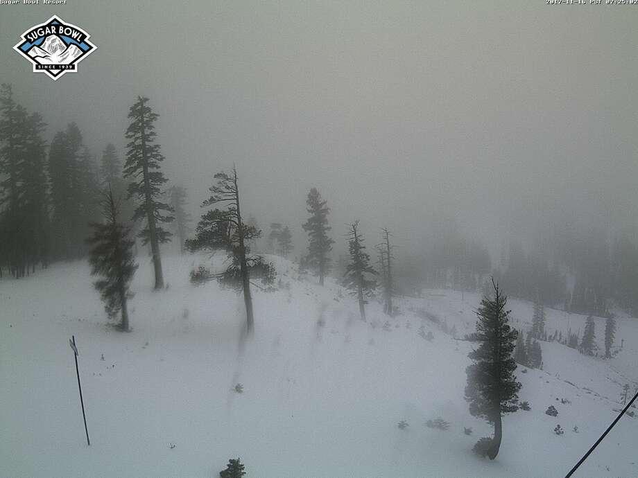 Conditions on Thursday morning at Sugar Bowl's Nob Hill. Photo: Tahoetopia.com