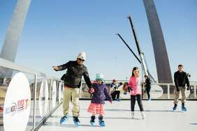 Skaters take part in last year's Winterfest at the Arch.