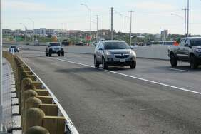 The Loop 20-Spur 400 (Clark Boulevard) overpass opened to the traveling public on Wednesday.