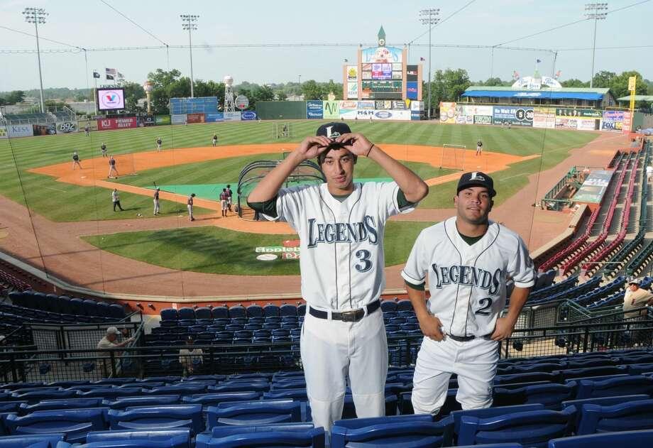 Lexington Legends second baseman Jose Altuve and shortstop Jio Mier at Whitaker Bank Ballpark in Lexington. Photo: James Calvert