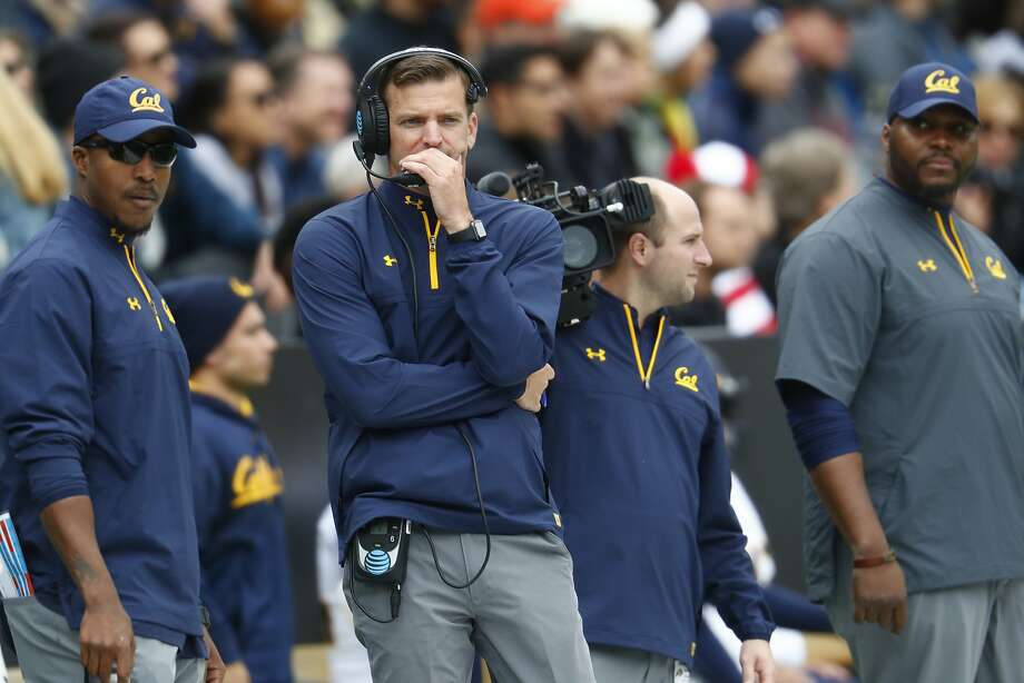 California Golden Bears head coach Justin Wilcox in the first half of an NCAA college football game Saturday, Oct. 28, 2017, in Boulder, Colo. (AP Photo/David Zalubowski) Photo: David Zalubowski, Associated Press