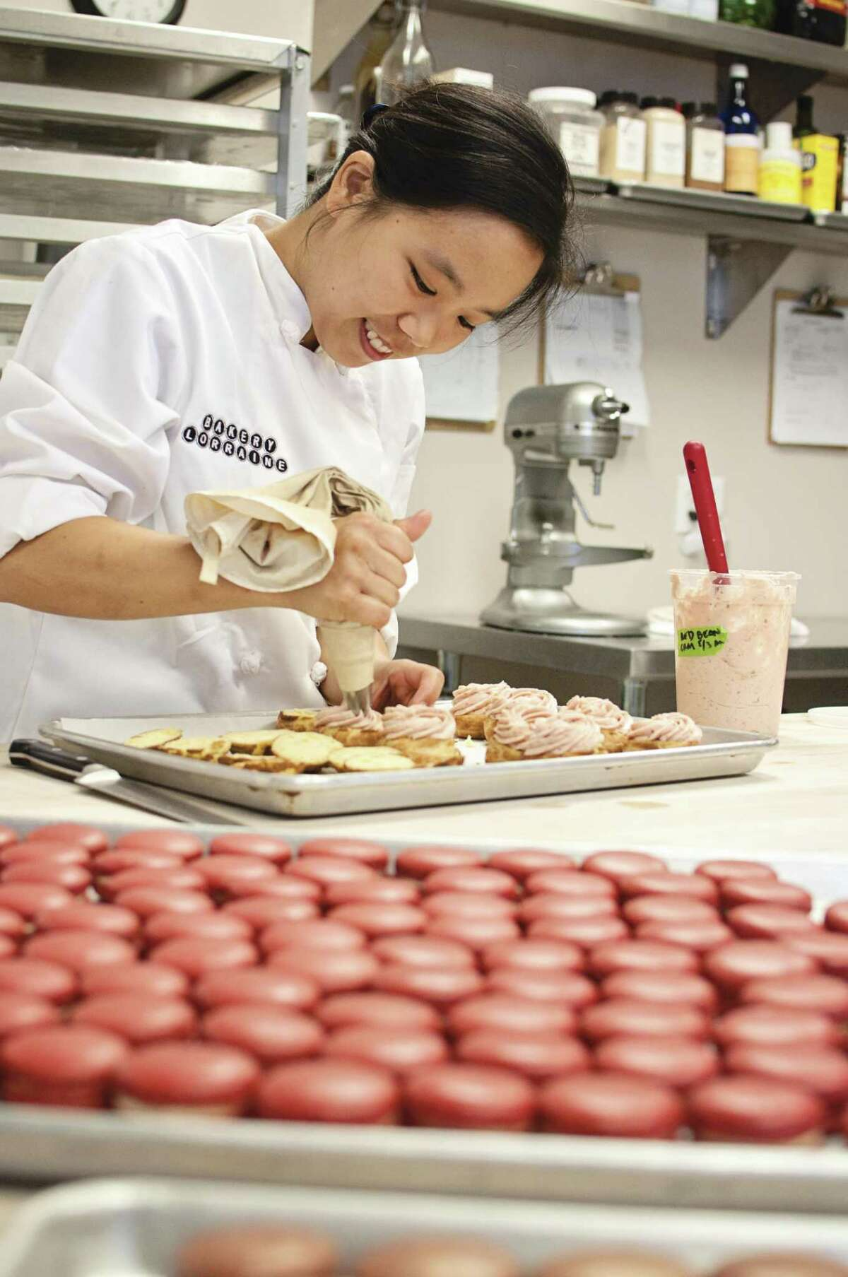 Anne Ng, co-owner of Bakery Lorraine, works on a batch of pastries.