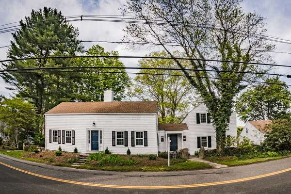 The antique colonial at 481 Old Long Ridge Road has four bedrooms and five bathrooms, and is listed at $924,900. Built in 1804, it's located in a historic section of Old Long Ridge Village in Stamford.