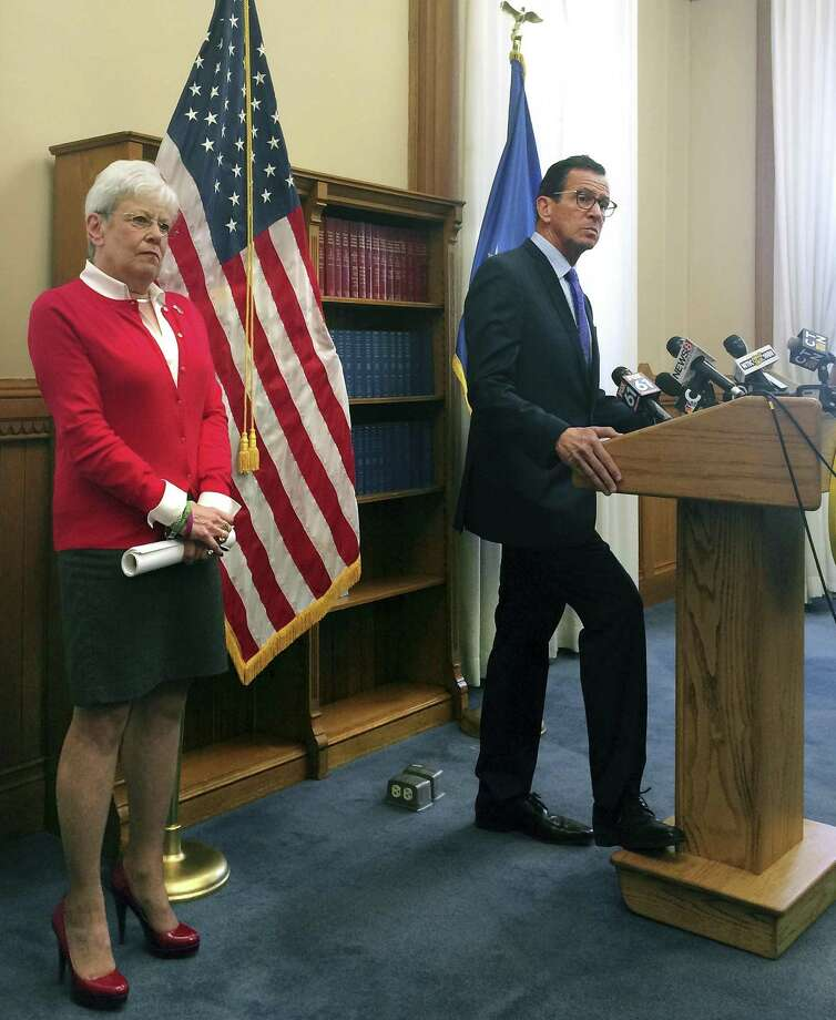 Gov. Dannel P. Malloy, in a file photo with Lt. Gov. Nancy Wyman, said Thursday that Wyman is a great help and a constant source of advice. Wyman, 71, announced that she would not run for governor next year. Photo: Susan Haigh / Associated Press / Copyright 2017 The Associated Press. All rights reserved.