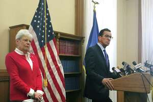 Gov. Dannel P. Malloy, in a file photo with Lt. Gov. Nancy Wyman, said Thursday that Wyman is a great help and a constant source of advice. Wyman, 71, announced that she would not run for governor next year.