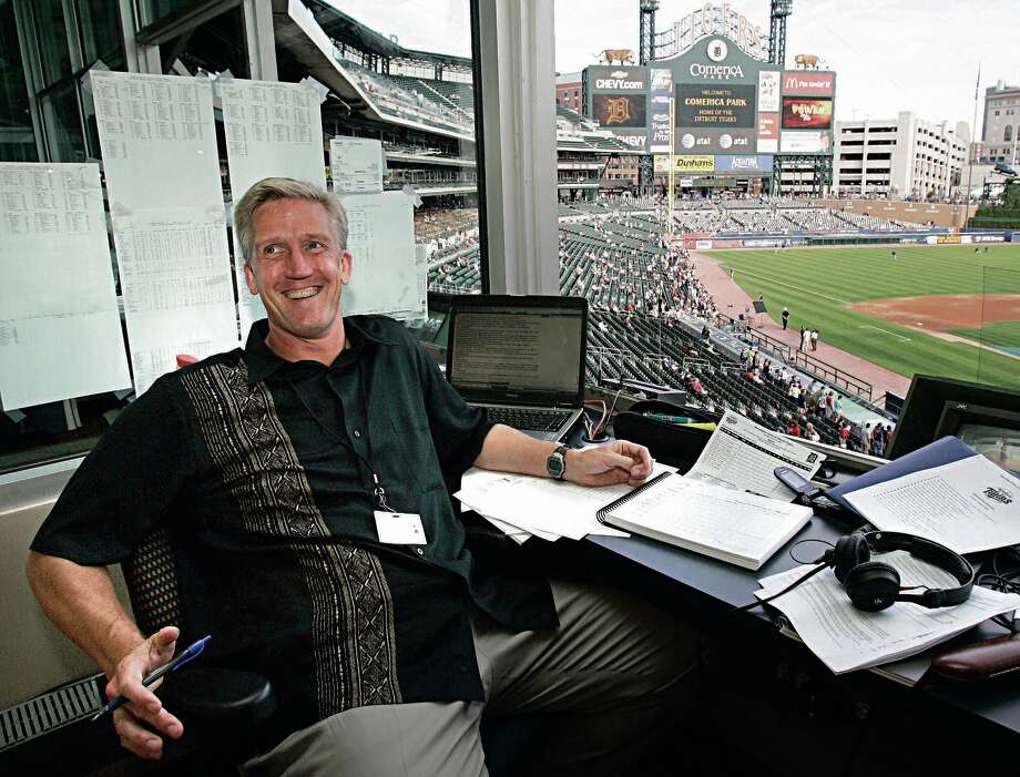 """Detroit Tigers radio broadcaster Dan Dickerson will join Center Stage Choirs for """"The Voice of Baseball"""" performances at the Midland Center for the Arts on Saturday and Sunday. (Associated Press photo) Photo: AP Photo"""