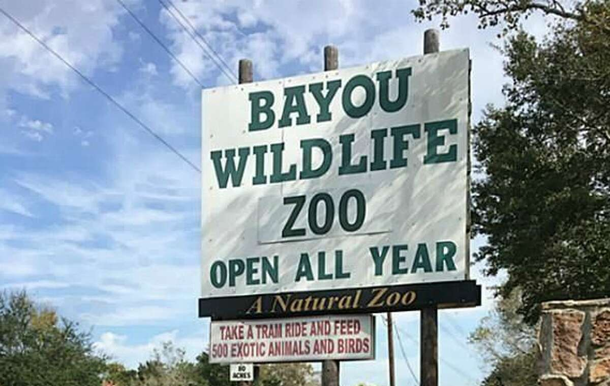 The Bayou Wildlife Zoo in Alvin is currently under contract for $3.6 million. Everything is included in the sale, including the zoo's 500 animals, a covered picnic area for 400 people, 16 barns, a souvenir shop, sales office, six restrooms, ranch equipment and more
