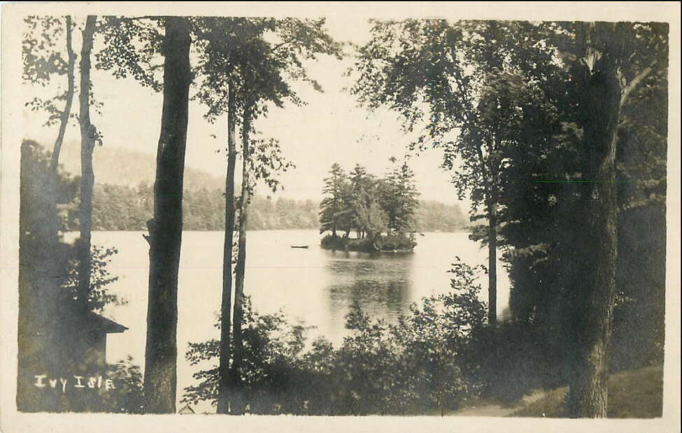 Postcard from the early 1900s of Ivy Isle on Lake Luzerne. (Submitted)