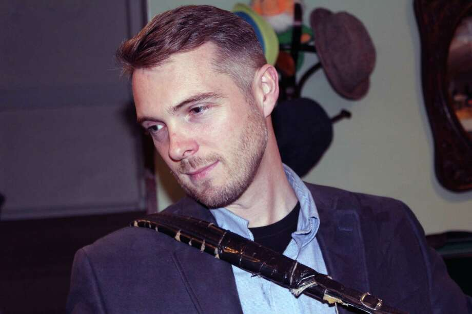 Irish button accordion player Damien Connolly in his Fairfield home on Nov. 10. Photo: Justin Papp / Hearst Connecticut Media / Fairfield Citizen