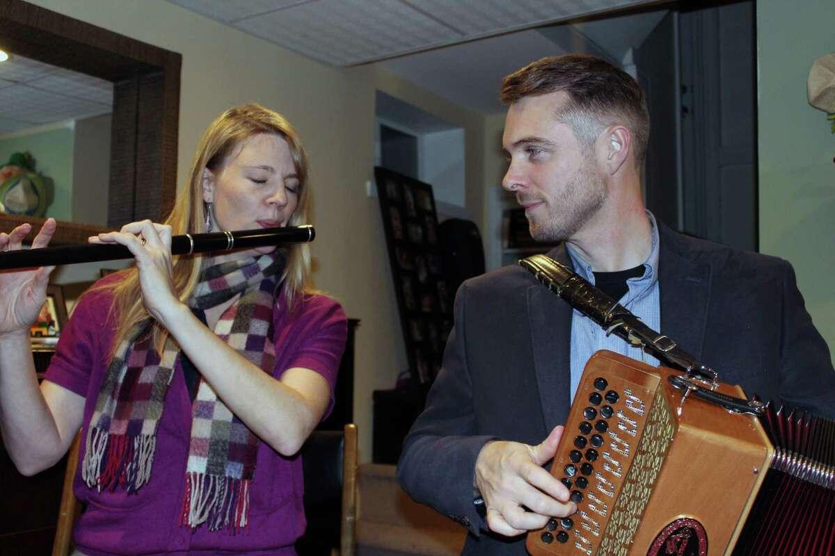Sally and Damien Connolly in their Fairfield, Conn., home on Nov. 14, 2017.