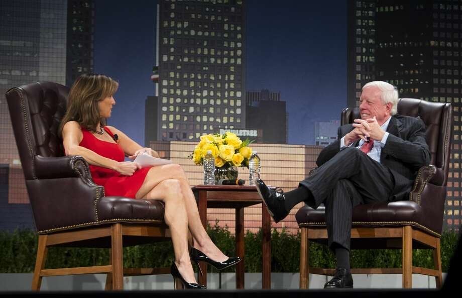 Janet Shamlian interviews Rich Kinder during the MD Anderson Evening with a Living Legend featuring Rich Kinder on Wednesday, Nov. 15, 2017, in downtown Houston. (Annie Mulligan / Freelance) Photo: Annie Mulligan/Annie Mulligan / For The Houston Chronicle