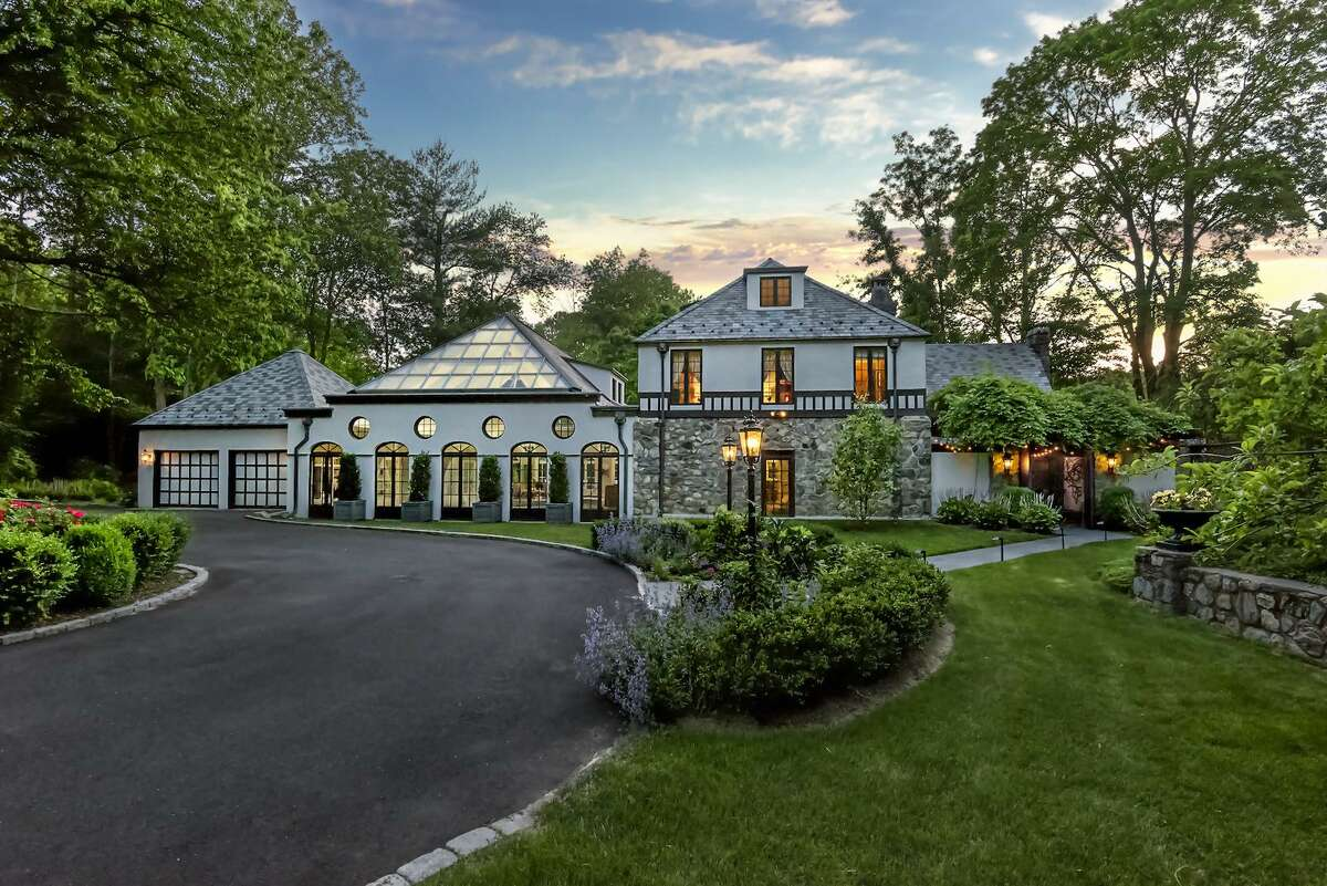 The house at 23 Pin Pack Road in Ridgefield is a true Tudor, a style that is not common in Connecticut. It was built in the 1920s as part of a three-home estate and has since been remodeled while keeping some of the 1920s elements.
