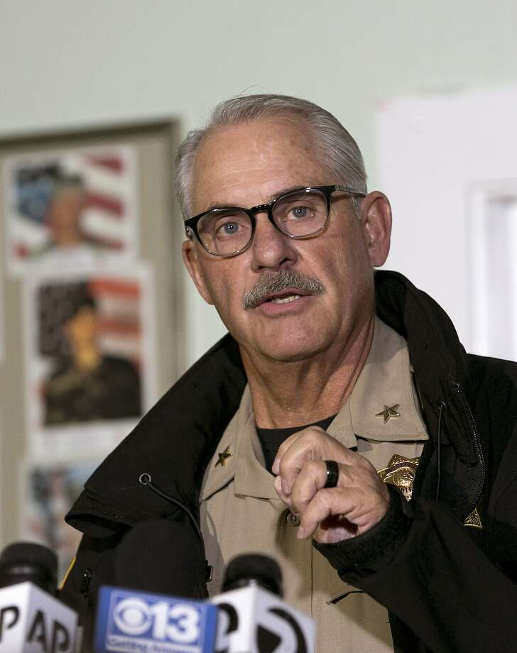 Tehama County Assistant Sheriff Phil Johnston discusses the shootings. Photo: Rich Pedroncelli, Associated Press