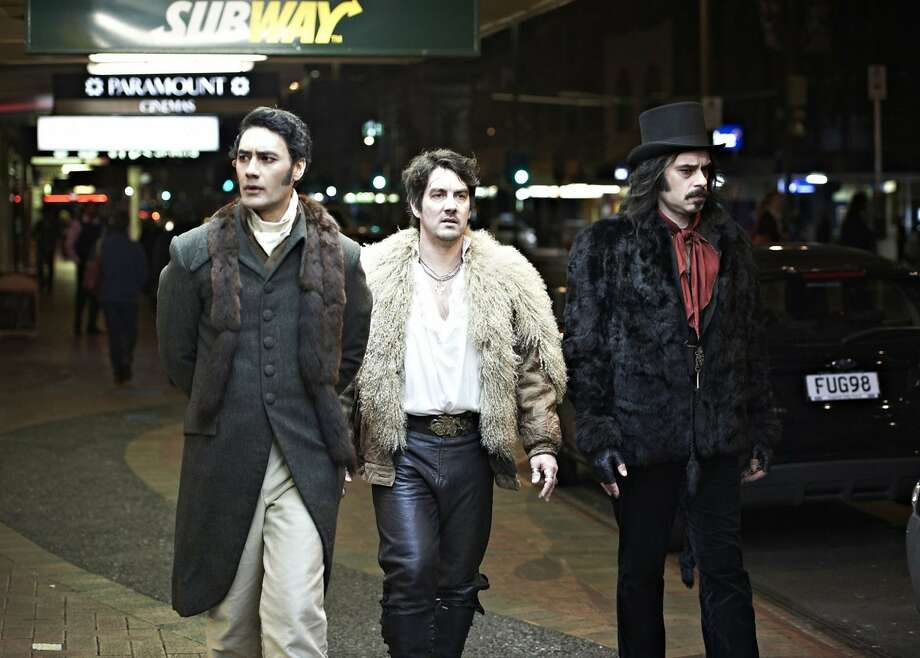 """Taika Waititi (left) and Jemaine Clement (right) plan to make a sequel to """"What We Do in the Shadows."""" Photo: Paramount Home Entertainment."""