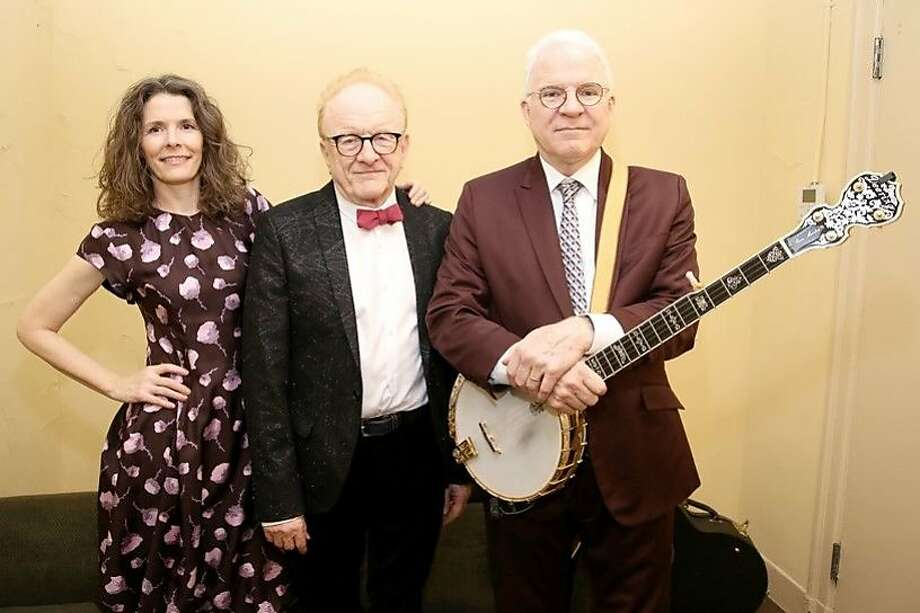 L-R: Edie Brickell, Peter Asher, Steve Martin Photo: Walter McBride