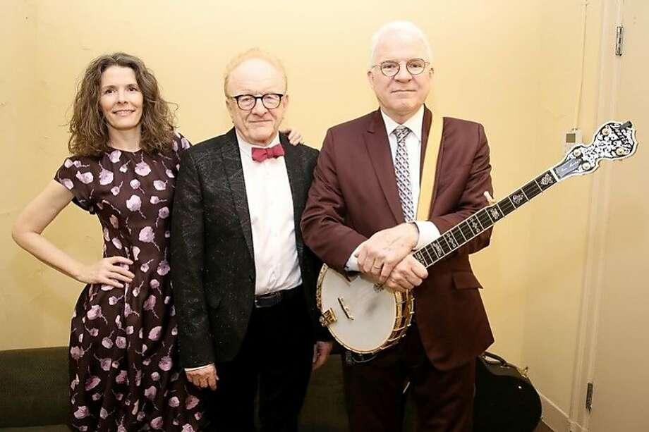 L-R: Edie Brickell, Peter Asher, Steve Martin Photo: Walter McBride