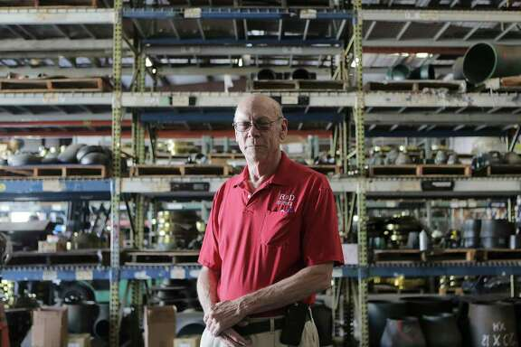 Greg Sharpe, owner of RSD Supply, stands in the warehouse on Tuesday, Nov. 14, 2017, in Houston.  ( Elizabeth Conley / Houston Chronicle )