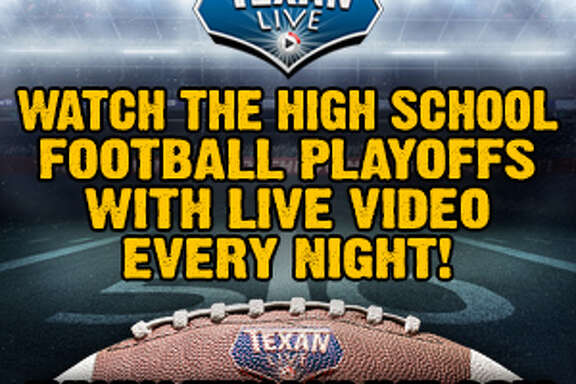 Texan Live playoff football logo.