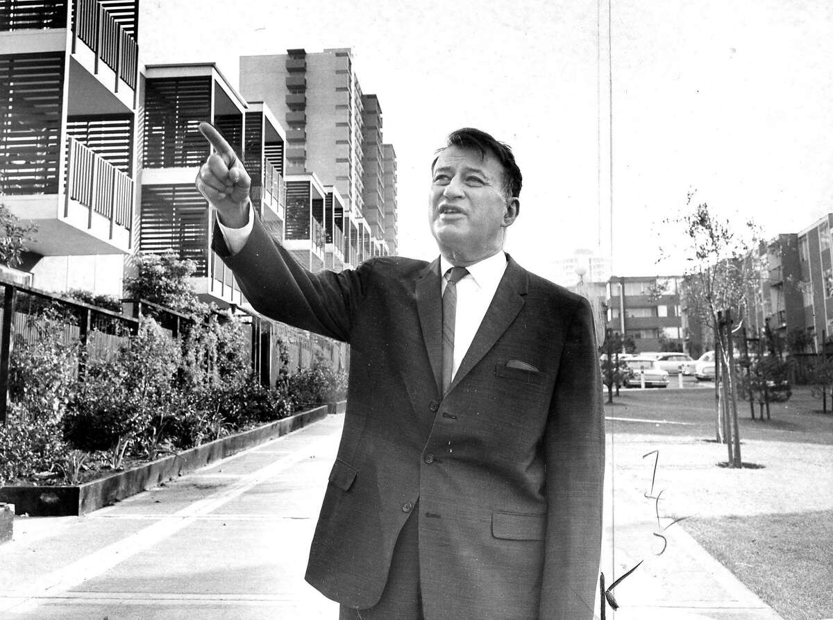 M. Justin Herman, Executive director of San Francisco Redevelopment Agency Photo ran 02/08/1966