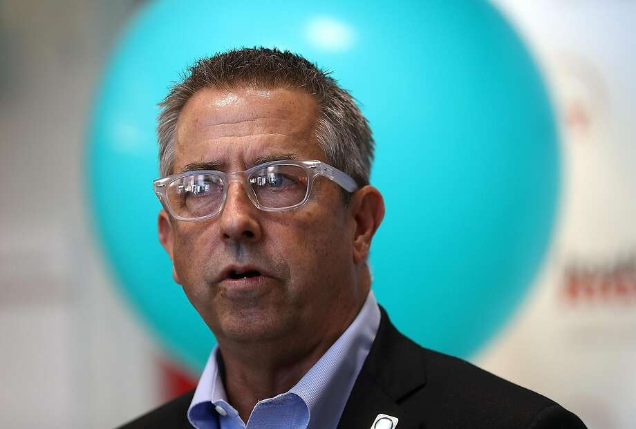 SAN FRANCISCO, CA - NOVEMBER 06:  Covered California executive director Peter V. Lee speaks during a news conference at HealthRIGHT 360 on November 6, 2017 in San Francisco, California. A statewide bus tour is making 22 stops throughout California to promote California Covered and encouraging people that are eligible to sign up. (Photo by Justin Sullivan/Getty Images) Photo: Justin Sullivan, Getty Images