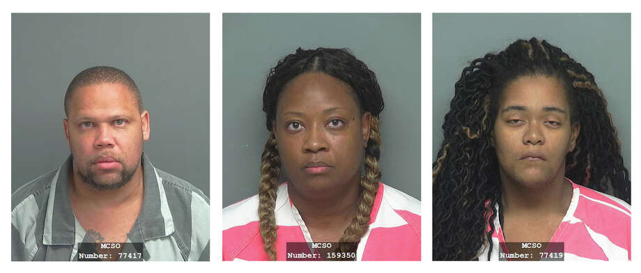 Anthony Maurice Jackson, 42, Tommieretta Gunner, 43, and Marreissa Jones, 28 Photo: MCSO