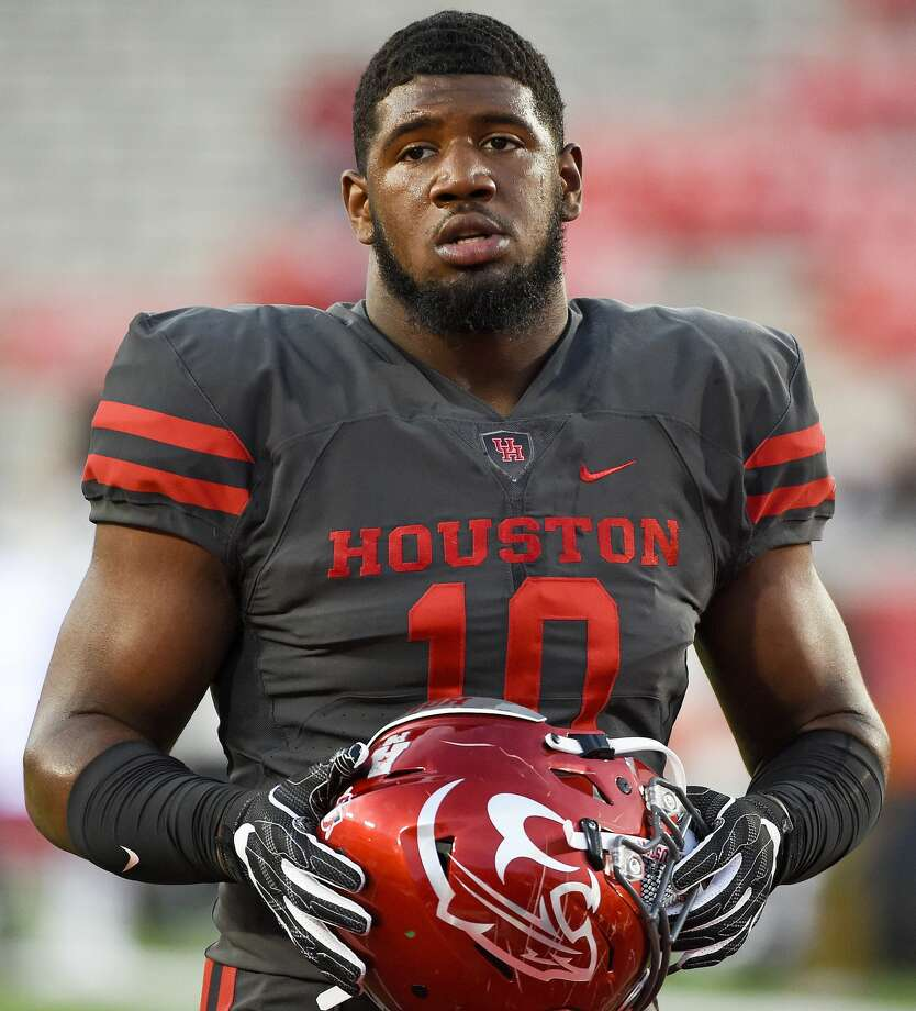 Houston defensive tackle Ed Oliver looks on before an NCAA college football game against Memphis, Thursday, Oct. 19, 2017, in Houston. (AP Photo/Eric Christian Smith) Photo: Eric Christian Smith/Associated Press