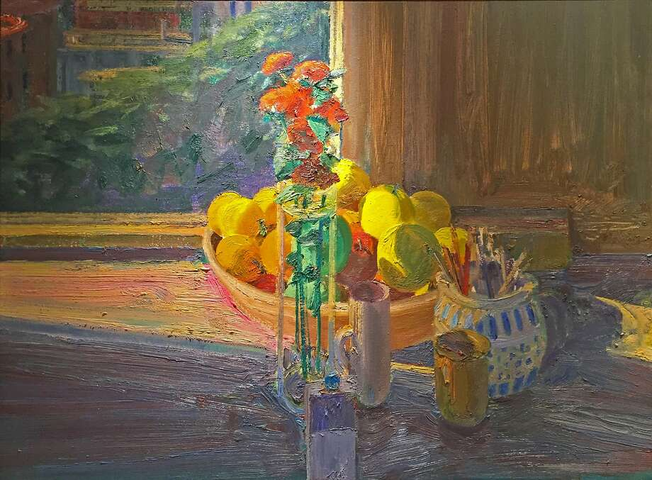 "Larry Cohen's ""Still Life against a Window,"" 1994, oil on canvas Photo: Courtesy Monterey Museum Of Art"