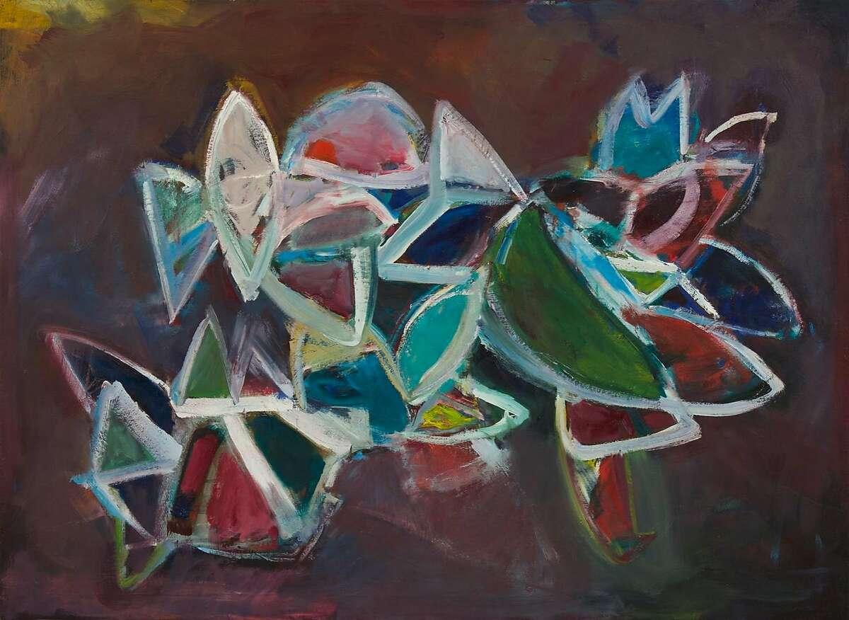 "Joan Savo's ""The Garden;"" 1991; oil on canvas."