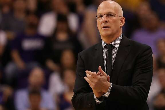 PHOENIX, AZ - NOVEMBER 13:  Interim head coach Jay Triano of the Phoenix Suns reacts during the first half of the NBA game against the Los Angeles Lakers at Talking Stick Resort Arena on November 13, 2017 in Phoenix, Arizona. The Lakers defeated the Suns 100-93. NOTE TO USER: User expressly acknowledges and agrees that, by downloading and or using this photograph, User is consenting to the terms and conditions of the Getty Images License Agreement.  (Photo by Christian Petersen/Getty Images)