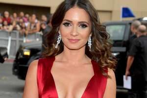 Diana Fuentes PLUNGING neckline is an accident waiting to happen.